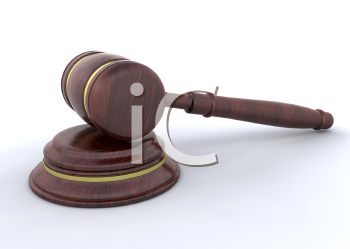 Royalty Free Clipart Image of a Gavel