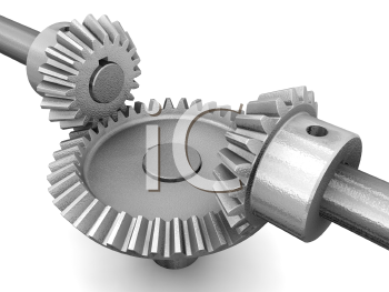 Royalty Free Clipart Image of Interlocking Gears