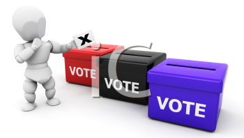 Royalty Free Clipart Image of a Voter