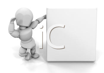 Royalty Free Clipart Image of a Man Holding a Blank Sign