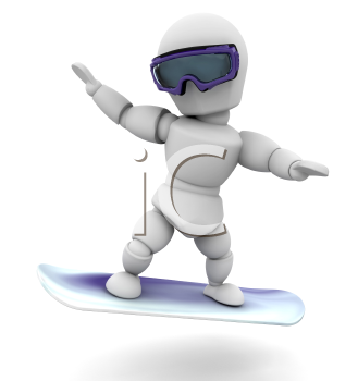 Royalty Free Clipart Image of a Snowboarder