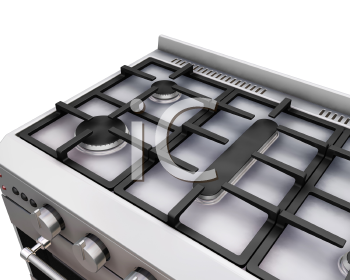 Royalty Free Clipart Image of the Top of an Oven