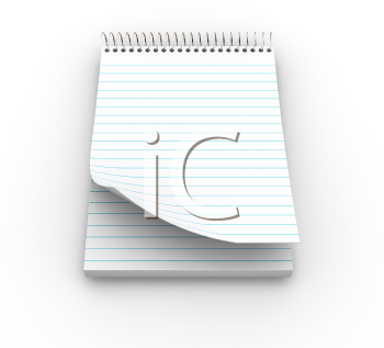 Royalty Free Clipart Image of a Notepad