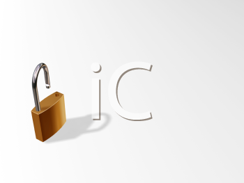 Royalty Free Clipart Image of an Open Padlock