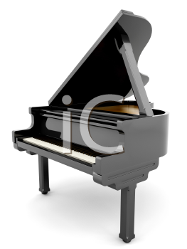 Royalty Free Clipart Image of a Grand Piano