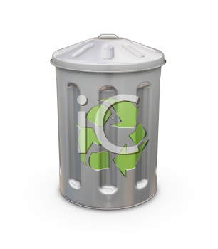 Royalty Free Clipart Image of a Recycling Bin
