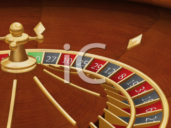 Royalty Free Clipart Image of a Roulette Wheel