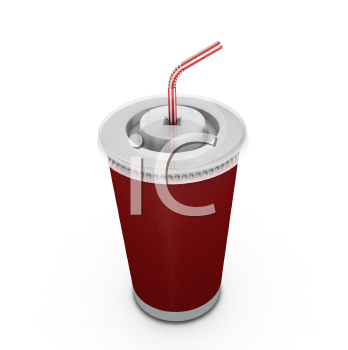 Royalty Free Clipart Image of a Soft Drink