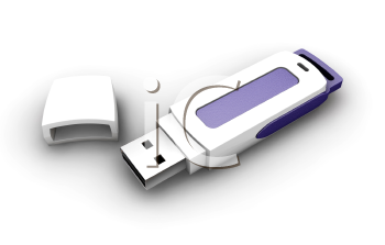 Royalty Free Clipart Image of a USB Drive