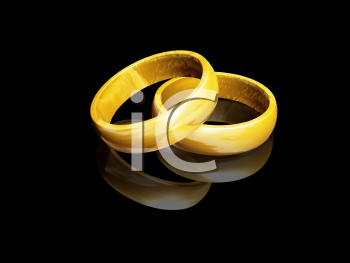 Royalty Free Clipart Image of a Wedding Rings