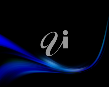 Abstract blue background with a flowing effect