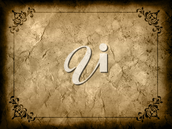 Dirty grunge background with a decorative border