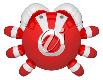 Royalty Free Clipart Image of a Robot Crab