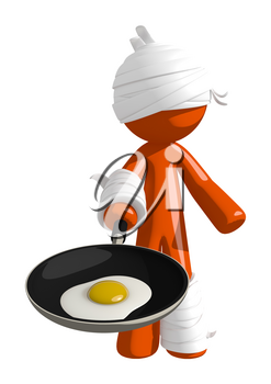 Personal Injury Victim Frying an Egg