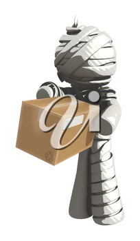 Mummy or Personal Injury Concept Receiving a Box