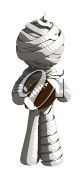 Mummy or Personal Injury Concept Holding a Football