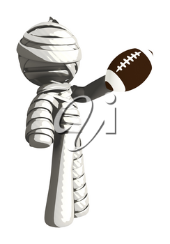 Mummy or Personal Injury Concept Inspecting a Football