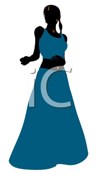 Royalty Free Clipart Image of a Belly Dancer