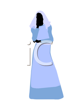 Royalty Free Clipart Image of a Biblical Woman