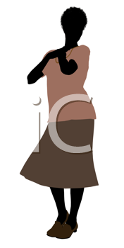 Royalty Free Clipart Image of an Older Woamn