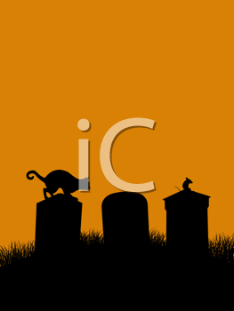 Royalty Free Clipart Image of a Halloween Illustration
