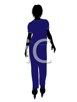 Royalty Free Clipart Image of a Roller Skater