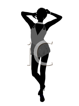 Royalty Free Clipart Image of a Dancer