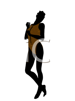 Royalty Free Clipart Image of a Woman in a Swimsuit