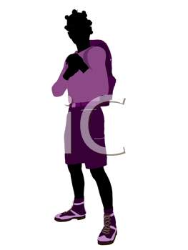 Royalty Free Clipart Image of a Girl Wearing a Backpack