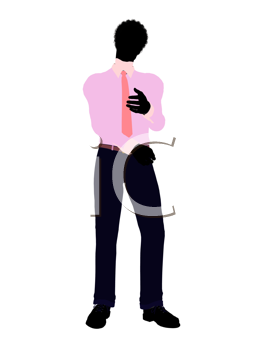 Royalty Free Clipart Image of a Young Man in a Tie