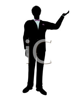 Royalty Free Clipart Image of a Man in a Tux