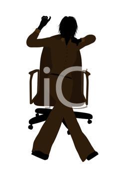 Royalty Free Clipart Image of a Woman in a Chair
