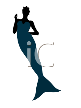 Royalty Free Clipart Image of a Mermaid
