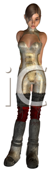 Royalty Free Clipart Image of a Steampunk Girl
