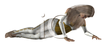 Royalty Free Clipart Image of a Woman Lying Down