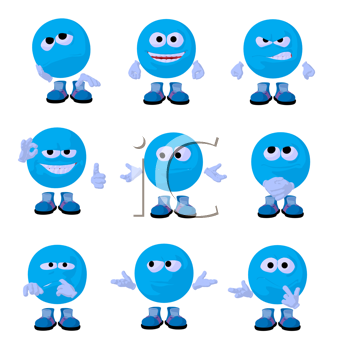 Royalty Free Clipart Image of Emoticons