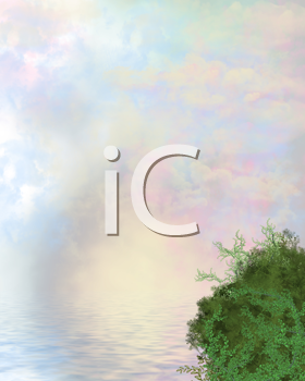 Royalty Free Clipart Image of an Ocean Background