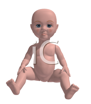 Royalty Free Clipart Image of a Baby Doll