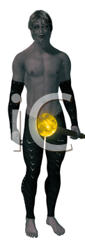 Royalty Free Clipart Image of a Goth Man