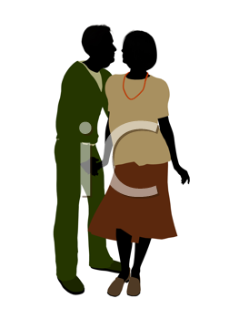 Royalty Free Clipart Image of a Romantic Couple