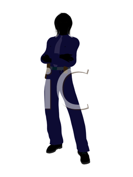 Royalty Free Clipart Image of a Female Officer
