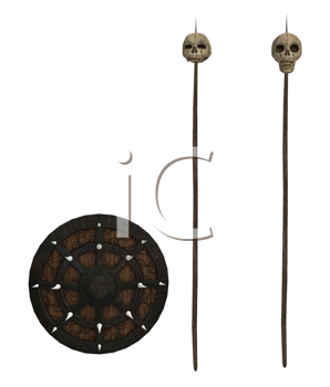 Shield And Skull Spears