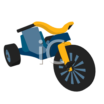 Royalty Free Clipart Image of a Tricycle