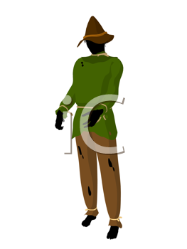 Royalty Free Clipart Image of a Scarecrow