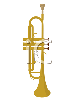 Royalty Free Clipart Image of a Trumpet