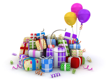 3D Illustration of Gifts in Different Packages