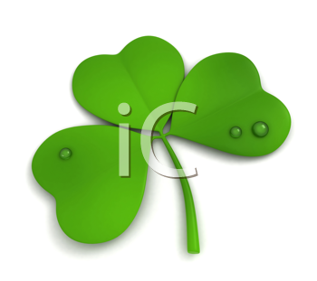 3D Illustration of a Shamrock Isolated on White