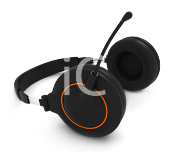 3D Illustration of a Headset
