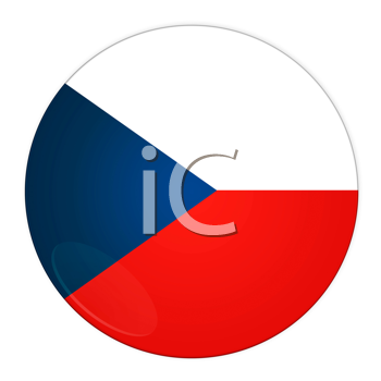 Abstract illustration: button with flag from Czech Republic country