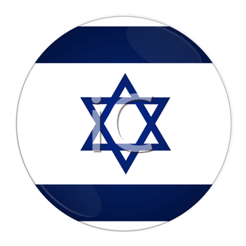 Abstract illustration: button with flag from Israel country